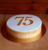 tort na 75 urodziny