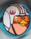 angry bird tort malowany
