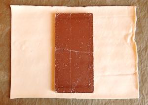 ciasto francuskie z czekoladą 1