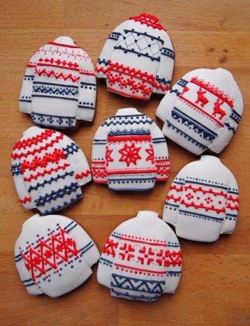 """tradycyjne pierniczki miodowe sweterki """"norweskie"""""""