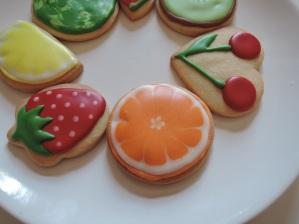 owocki - pomarańcza - ciasteczka maślane